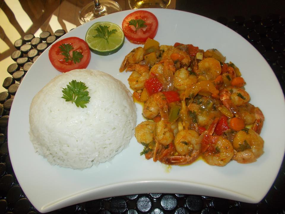 Crevette sauce curry Plat typique de Madagascar